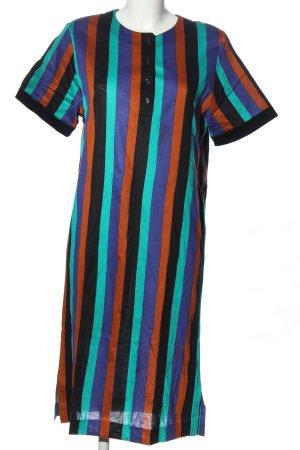 Atelier Goldner Schnitt Robe à manches courtes motif rayé style décontracté