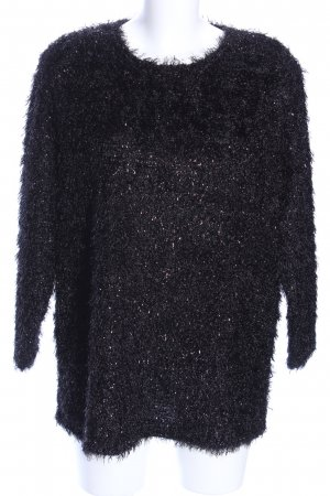 Atelier Goldner Schnitt Pull tricoté noir élégant
