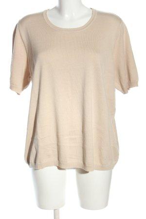 Atelier Goldner Schnitt T-shirts en mailles tricotées crème