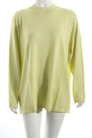 Atelier Goldner Schnitt Gebreid shirt lichtgroen casual uitstraling