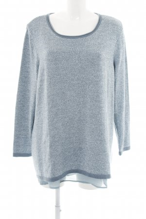 Atelier Knitted Sweater blue flecked casual look