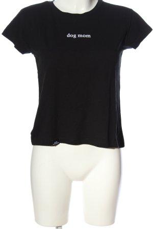 Atelier T-shirt nero caratteri stampati stile casual