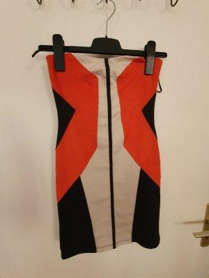 Bershka Tube Dress multicolored