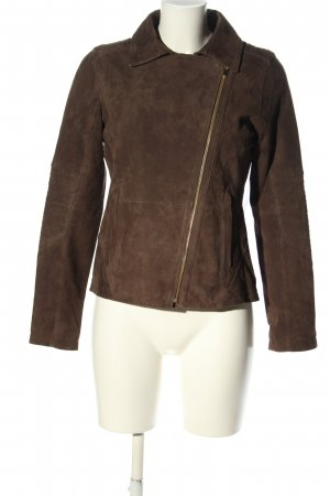 Athleta Leather Jacket brown business style