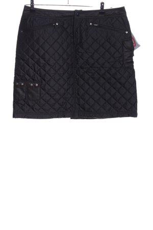 Athleta Mini-jupe noir motif de courtepointe style décontracté