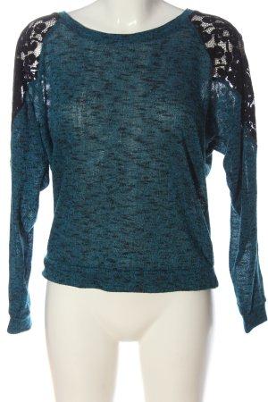 Athmosphere Cienki sweter z dzianiny niebieski-czarny Melanżowy W stylu casual