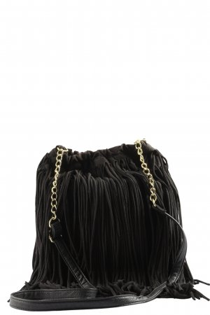 Athmosphere Fringed Bag black casual look