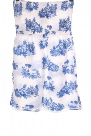 Athmosphere High Waist Skirt white-blue allover print casual look