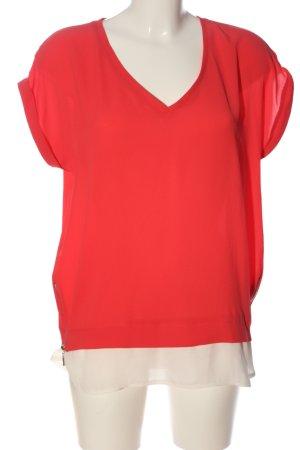 Athmosphere Camicetta a maniche corte rosso-bianco stile casual