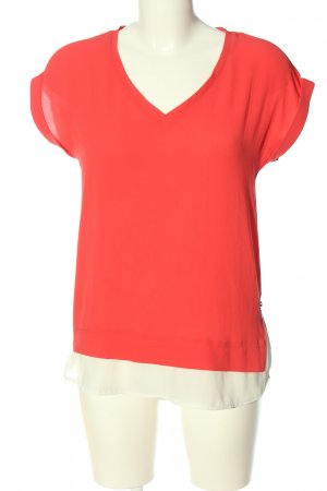 Athmosphere Short Sleeved Blouse red-natural white casual look