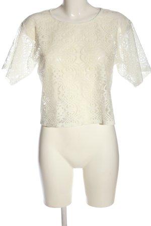 Athmosphere Blusa in merletto bianco sporco modello web stile casual