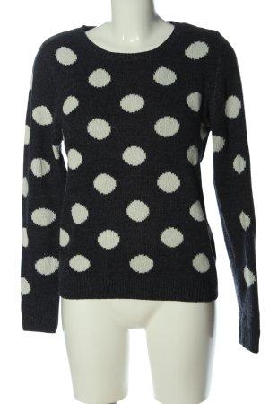 Athmosphere Sweter z dzianiny czarny-biały Wzór w kropki W stylu casual