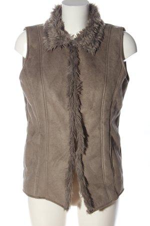 Atlas for women Fake Fur Vest brown casual look