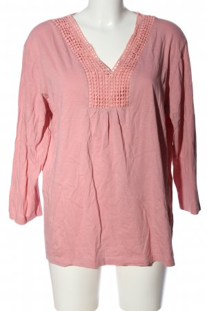 Atlas for women Langarm-Bluse pink meliert Casual-Look