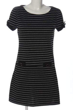 Atmosphere Robe trapèze noir-gris clair imprimé allover style décontracté