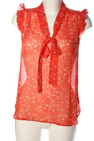 Atmosphere ärmellose Bluse rot-blassgelb Blumenmuster Casual-Look