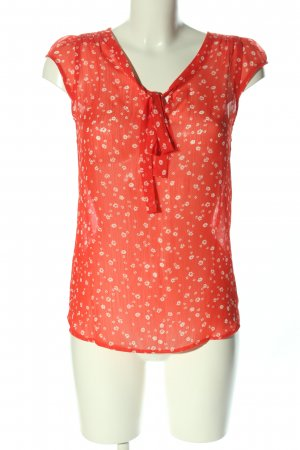 Atmosphere ärmellose Bluse rot-wollweiß Allover-Druck Casual-Look