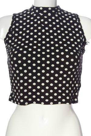 Atmosphere ärmellose Bluse schwarz-weiß Allover-Druck Casual-Look