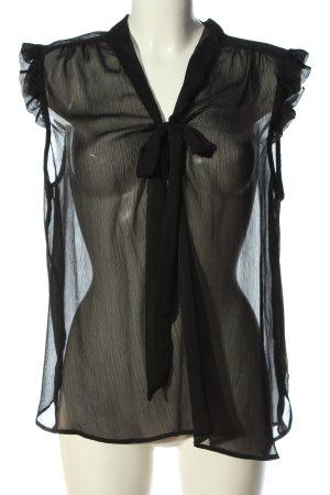 Atmosphere ärmellose Bluse schwarz Elegant