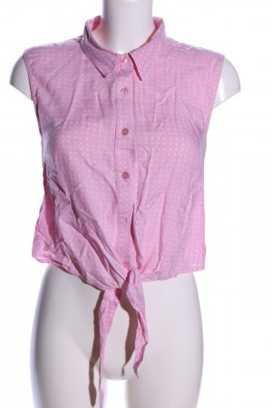 Atmosphere ärmellose Bluse pink-weiß Allover-Druck Casual-Look