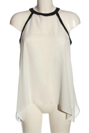 Atmosphere Bluzka bez rękawów biały-czarny W stylu casual