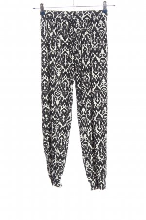 Atmosphere Baggy Pants black-white allover print casual look