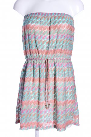 Atmosphere Bandeau Dress pink-turquoise allover print casual look