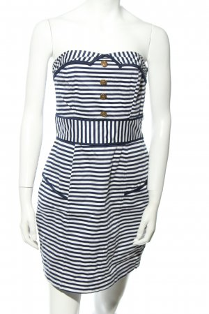 Atmosphere Bandeau Dress blue-white striped pattern party style