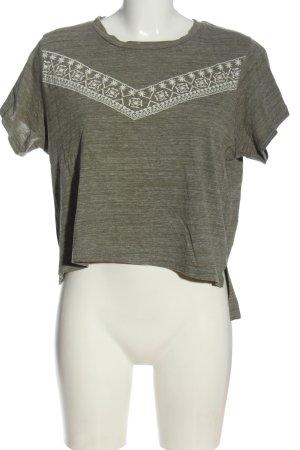 Atmosphere Shirt basique gris clair-blanc moucheté style décontracté