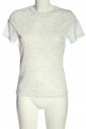 Atmosphere Shirt basique blanc-noir moucheté style décontracté