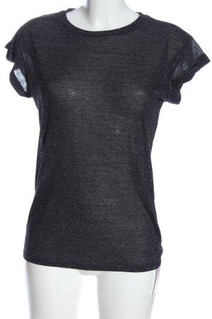 Atmosphere Shirt basique noir moucheté style décontracté