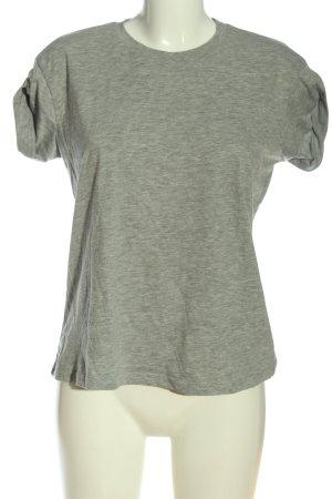 Atmosphere Basic-Shirt hellgrau meliert Casual-Look
