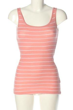 Atmosphere Basic Top pink-weiß Streifenmuster Casual-Look
