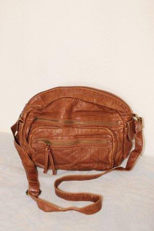 Atmosphere Pouch Bag cognac-coloured polyurethane
