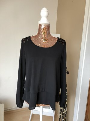 Atmosphere Blouse brillante noir