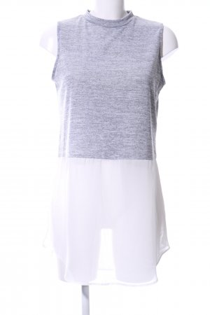 Atmosphere Empiècement de blouses gris clair-blanc moucheté
