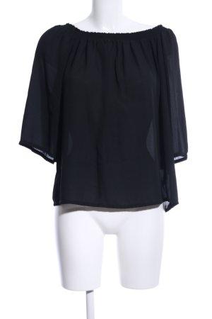 Atmosphere Carmen blouse zwart casual uitstraling