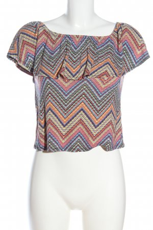 Atmosphere Carmen-Bluse Allover-Druck Casual-Look