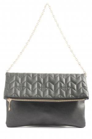 Atmosphere Clutch schwarz Steppmuster Casual-Look