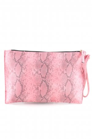 Atmosphere Clutch pink-hellgrau Animalmuster Casual-Look