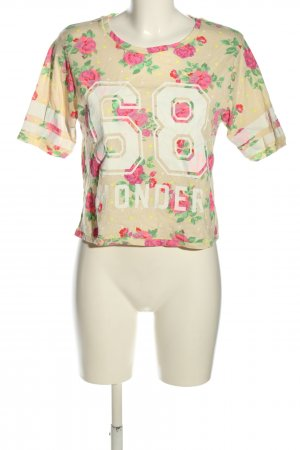 Atmosphere Cropped Shirt creme-pink Allover-Druck Casual-Look