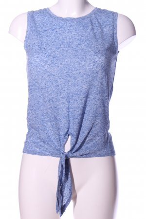 Atmosphere Cut-Out-Top blau meliert Casual-Look
