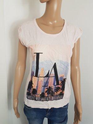 Atmosphere Damen Shirt T-Shirt rose mit Druck Größe 40 L