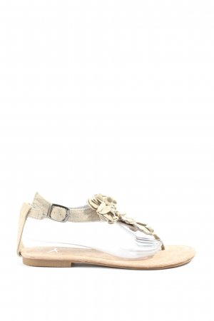 Atmosphere Sandalias Dianette crema look casual