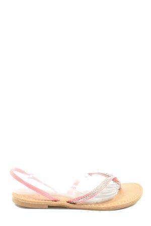 Atmosphere Sandales Dianette rose style décontracté
