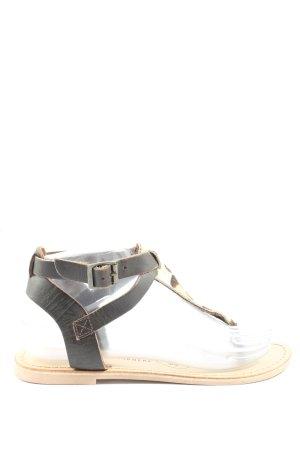 Atmosphere Flip Flop Sandalen braun-wollweiß Animalmuster extravaganter Stil