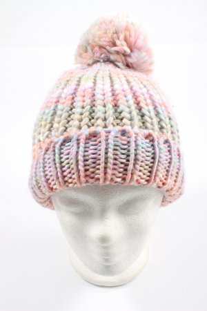 Atmosphere Bonnet en crochet gradient de couleur style décontracté