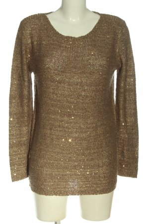Atmosphere Crochet Sweater bronze-colored casual look