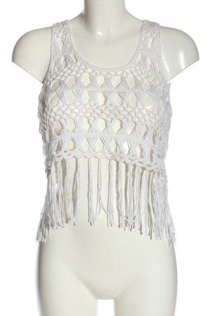 Atmosphere Crochet Top white casual look