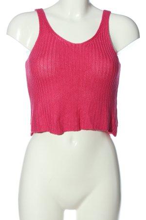 Atmosphere Top de ganchillo rosa Patrón de tejido look casual